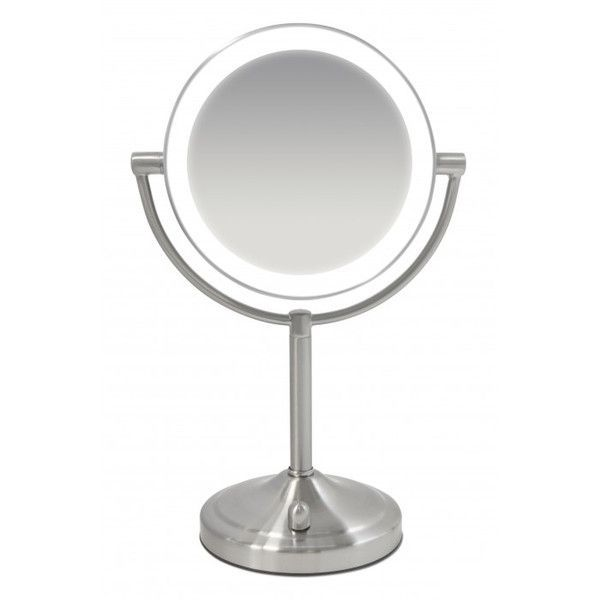 Косметическое двустороннее зеркало 7х увеличение с регулируемой подсветкой HoMedics