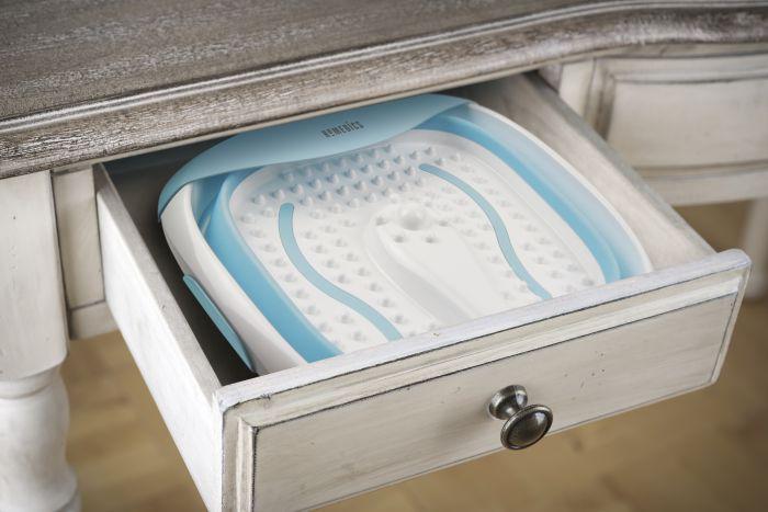 Силиконовая складывающаяся гидромассажная ванночка с вибромассажем Foldaway Luxury Foot SPA
